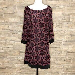 Charlie Paige black and plum dress